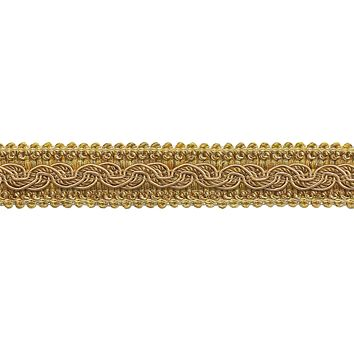 "9 Yard Value Pack - Two Tone Gold Baroque Collection Gimp Braid 1-1/4"" Style# 0125BG Color: GOLD MEDLEY - 8633 (27 Ft / 8 Meters)"