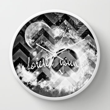 forever young Wall Clock by Haroulita