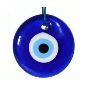Cobalt Blue Glass Evil Eye Hanging Sculpture