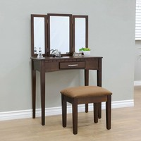 Vanity with Bench and Drawer Espresso