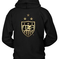 DCCKL83 Us Soccer Team Logo Hoodie Two Sided