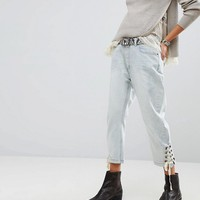One Teaspoon Eagles Boyfriend Jeans With Lace Up Ankle at asos.com