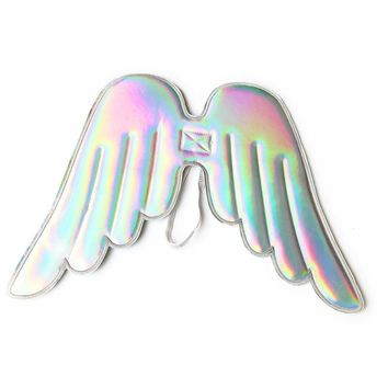 Girls Hologram and Glitter Angel, Unicorn, Fairy Costume and Dress up Wings