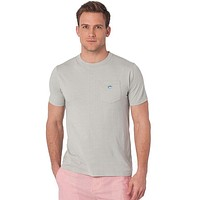 Embroidered Pocket Tee in Harpoon Grey by Southern Tide