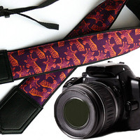 Giraffe camera strap. DSLR / SLR Camera Strap. Camera accessories. Camera strap for Nikon, Sony, Canon, Fuji & other cameras. Great Gift.