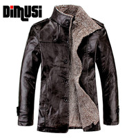 Leather Jacket Men Winter Thick Inner Wool PU Leather Coat Men Casual Thermal Stand CollarFaux Leather Coat Warm Jacket