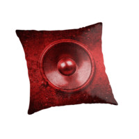 Red grunge music speaker by steveball