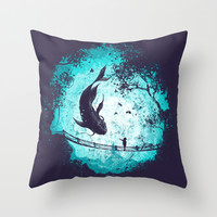 My Secret Friend Throw Pillow by Robson Borges