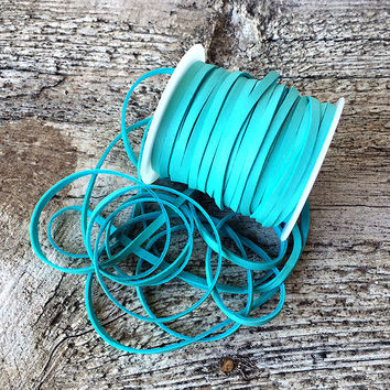 """1/8"""" Turquoise Deerskin Lace"""