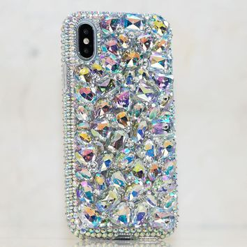 Aurora Borealis Crystals and Stones Design (Style 858)