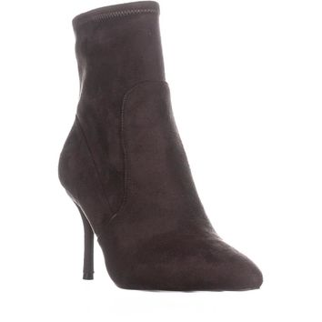 Nine West Cadence Pointed Toe Ankle Booties, Dark Grey, 8 US