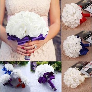 Bride wedding bouquet Bridesmaid artificial flower [7983553479]