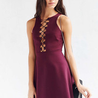 Silence + Noise Maxine Lace-Up Mini Dress - Urban Outfitters