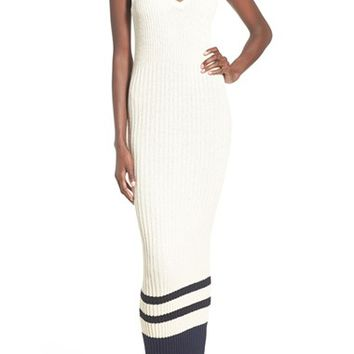 James Perse Stripe Ribbed Maxi Dress | Nordstrom