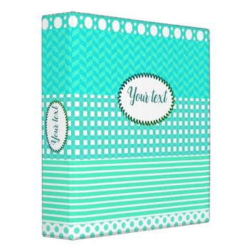 Pastel Turquoise Pattern Mix Binder