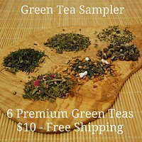 Six Pack Green Tea Sampler for $10 - Free Shipping - On Sale