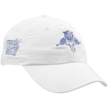 New Era Florida Panthers Ladies White Hockey Fights Cancer Slouch Adjustable Hat