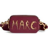 MARC JACOBS Flashed Snapshot Leather Crossbody Bag | Nordstrom