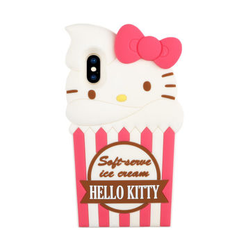 Hello Kitty iPhone X Silicone Case: Ice Cream