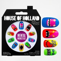 Elegant Touch | House Of Holland Nails By Elegant Touch - Mental Monsters at ASOS