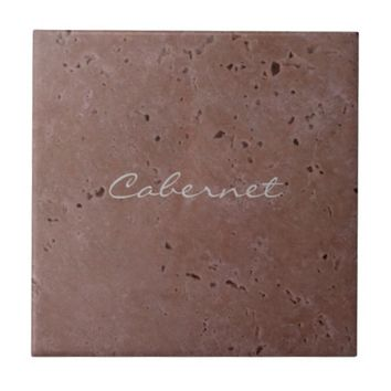 Cabernet Wine Red Travertine 2.0 Ceramic Tile