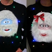 BUMBLE & BUMBELLA - COUPLES SWEATERS - ABOMINABLE SNOW COUPLE - L | StickItVinyls