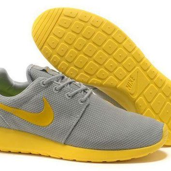 VONEED Nike Roshe Run Shoes Yellow Men - Ready Stock Online