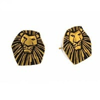 Gold Plated Mufasa Lion King Stud Earrings From Disney Couture : TruffleShuffle.com