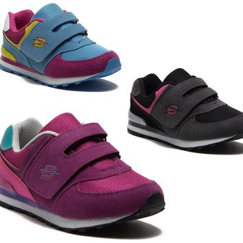 Girls Kids 45022 Velcro Strap Running Sneakers Shoes