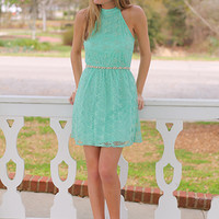 Stitch In Time Dress, Mint