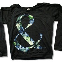 "Bravado Juniors Of Mice & Men ""Blue Rose"" Black Long Sleeve Fashion T-Shirt (Medium)"