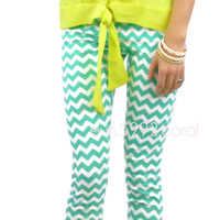 Mintastic Chevron Mint Leggings