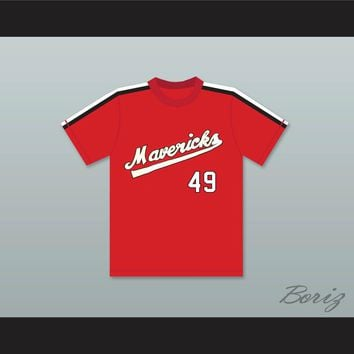 Dick Rusteck 49 Portland Mavericks Baseball Jersey The Battered Bastards of Baseball