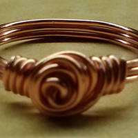 Handmade Wire Wrapped Ring, Handmade Jewelry, Wire Ring, Wire Wrapped Jewelry, Elegant Ring, Elegant Jewelry, Copper Ring, Copper Jewelry