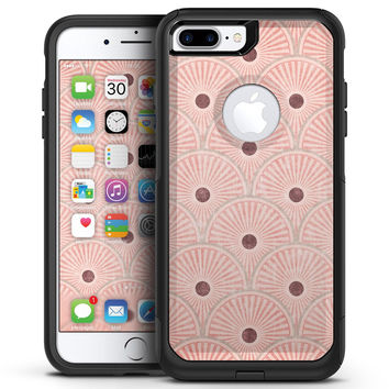 Antique Red and Brown Fish Scales - iPhone 7 or 7 Plus Commuter Case Skin Kit
