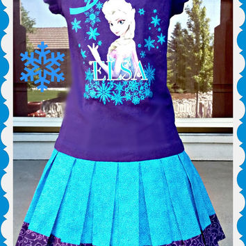 girls custom boutique dress FROZEN Queen Elsa 4/5