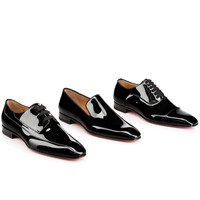 Dandelion patent BLACK Patent - Men Shoes - Christian Louboutin