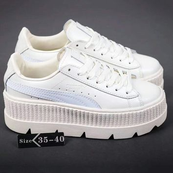 PUMA Fenty Creeper Women Casual Running Sport Shoes Sneakers Roses White  G-A-YYMY-XY 5d8740d78