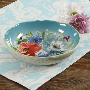 The Pioneer Woman Melody Teal 7.5-Inch Pasta Bowl - Walmart.com
