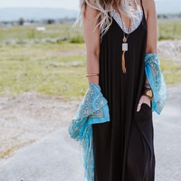 Perfection Pocket Maxi Dress - Black