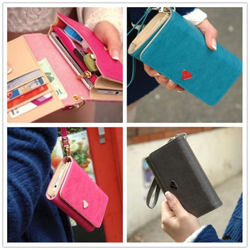 Women's Fashion Envelope Card Wallet Leather Purse Case Cover Bag For Samsung Galaxy S3 S4 i9500 iPhone = 1706180612