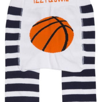 Blue and White Basketball Baby Boys Legging, Izzy & Owie