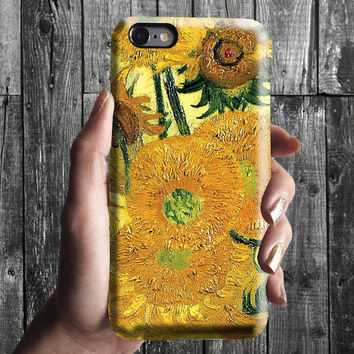 Sunflowers - Van Gogh iPhone Case 6, 6S, 6 Plus, 4S, 5S. Mobile Phone Cell. Art Painting. Gift Idea. Anniversary. Gift for him and her