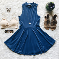A Flouncy Fit and Flare in Blue