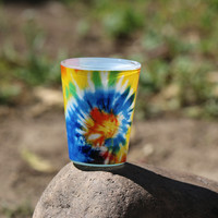 Tie Dye Shot Glass
