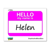 Helen Hello My Name Is Sticker