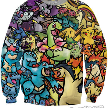 Pokemon Mashup Crewneck Sweatshirt