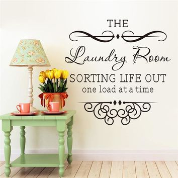 the laundry room rules quotes wall sticker