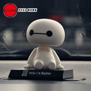1pc Cute Dashboard Doll Nod Nodding Bobblehead Toy Car Ornaments Auto Decorations with Dashboard Anti-slip Pad