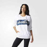 adidas Blue Geology Sweatshirt - White | adidas US